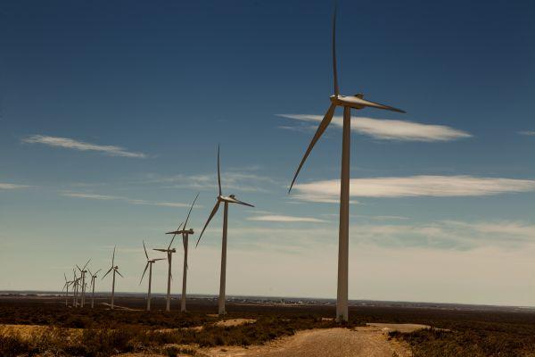 Factor de producción eólico
